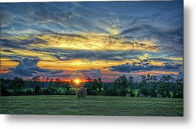 Metal Print featuring the photograph Rural Sunset by Lewis Mann