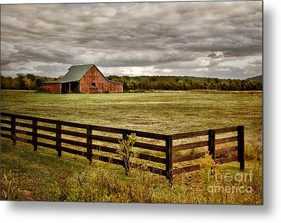 Rural Tennessee Red Barn Metal Print