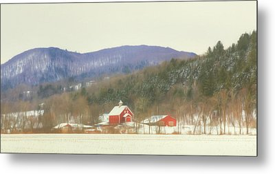 Metal Print featuring the digital art Rural Vermont by Sharon Batdorf