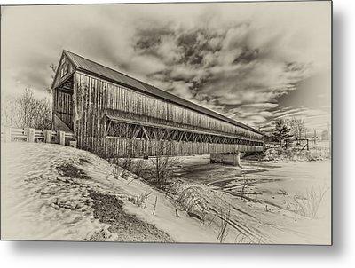 Rusagonish Covered Bridge Metal Print by Jason Bennett