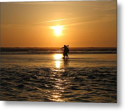 Rushing To Beat The Tide Metal Print by Will Borden