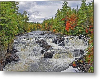 Metal Print featuring the photograph Rushing Towards Fall by Glenn Gordon