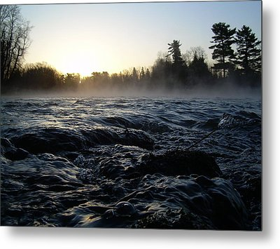 Metal Print featuring the photograph Rushing Water In Missississippi River by Kent Lorentzen