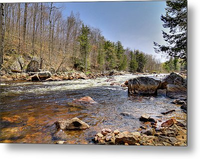 Metal Print featuring the photograph Rushing Waters Of The Moose River by David Patterson