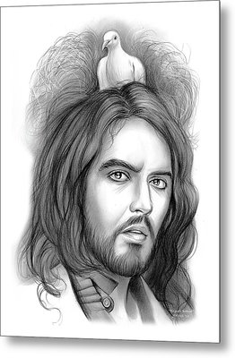 Russell Brand Metal Print