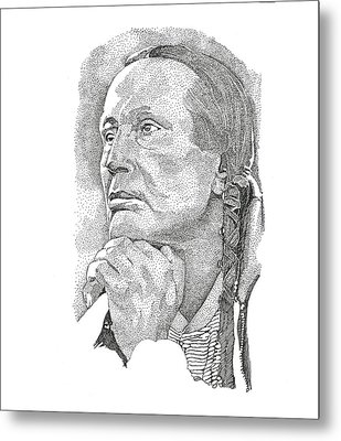 Russell Means Metal Print