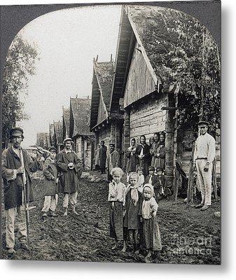 Russia: Peasants Metal Print by Granger