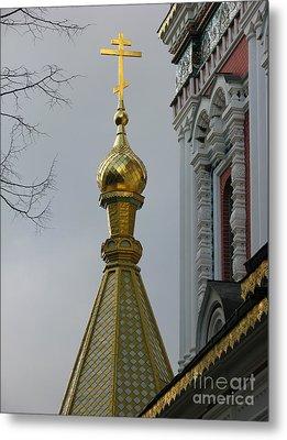 Russian Church Dome Metal Print by Iglika Milcheva-Godfrey