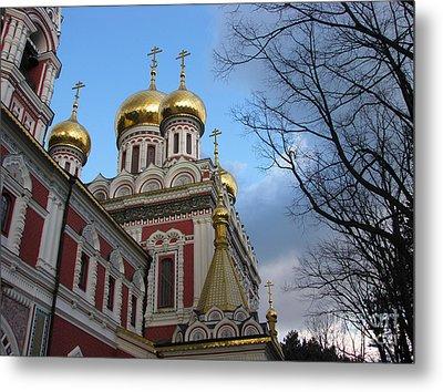 Russian Church Metal Print by Iglika Milcheva-Godfrey