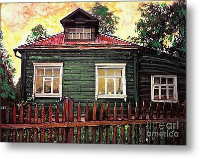 Russian House 2 Metal Print by Sarah Loft