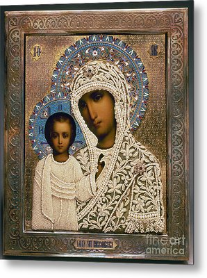 Russian Icon: Mary Metal Print by Granger
