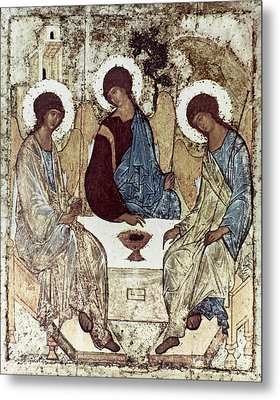 Russian Icons: The Trinity Metal Print by Granger