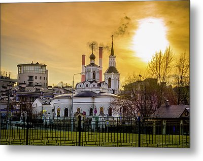 Metal Print featuring the photograph Russian Ortodox Church In Moscow, Russia by Alexey Stiop