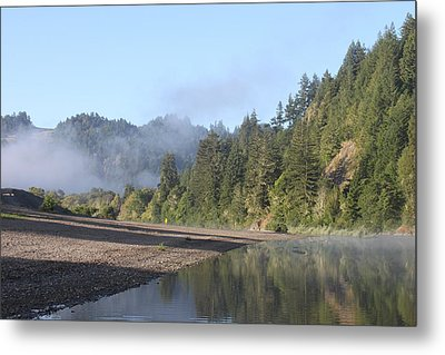 Russian River Morning Glow Metal Print by Remegio Onia
