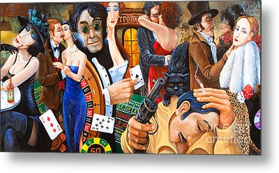 Russian Roulette Metal Print by Igor Postash