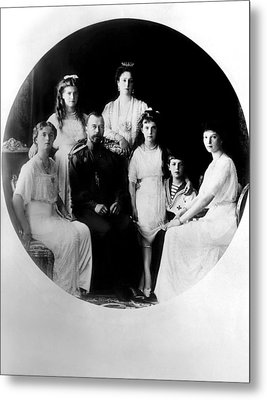 Russian Royal Family Left To Right Metal Print by Everett