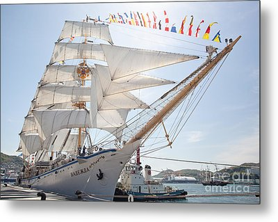 Metal Print featuring the photograph Russian Sailing Ship by Aiolos Greek Collections
