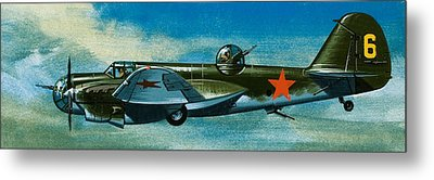 Russian Tupolev Bomber Metal Print by Wilf Hardy