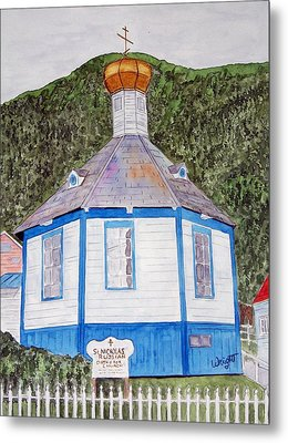Russians In Alaska Metal Print by Larry Wright