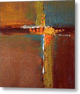 Metal Print featuring the painting Rust Abstract Painting by Nancy Merkle