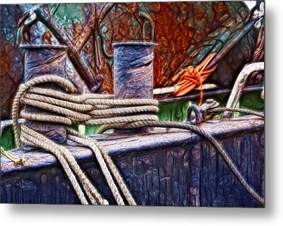 Rust And Rope Metal Print by Cameron Wood