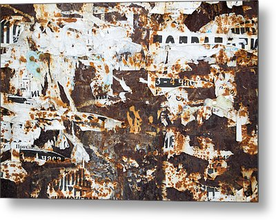 Rust And Torn Paper Posters Metal Print by John Williams