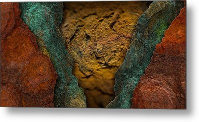 Rust Landscape 6 Metal Print by WB Johnston
