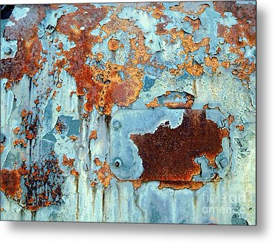 Rust - My Rusted World - Train - Abstract Metal Print by Janine Riley
