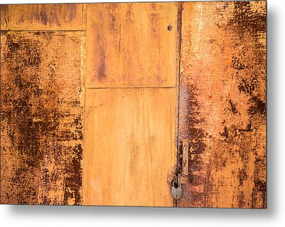Metal Print featuring the photograph Rust On Metal Texture by John Williams