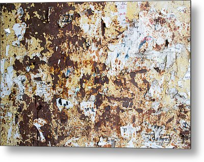 Metal Print featuring the photograph Rust Paper Texture by John Williams