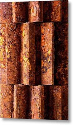 Rusted Gears 2 Metal Print