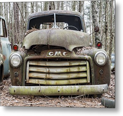 Rusted Gmc Pickup Truck Metal Print by Robert Myers