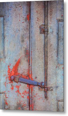 Rusted Iron Door Handle Metal Print