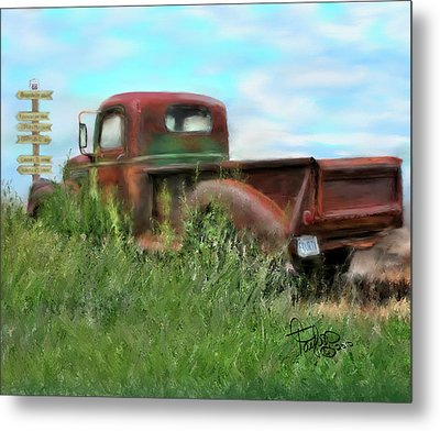 Rusted Not Retired Metal Print by Colleen Taylor