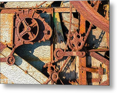 Rusted Reaction Metal Print