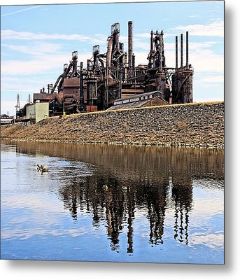 Rusted Relection Metal Print by DJ Florek