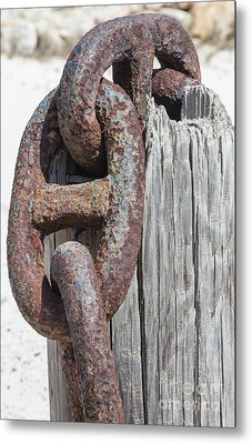 Rusted Ship Anchor Of The Caribbean Metal Print