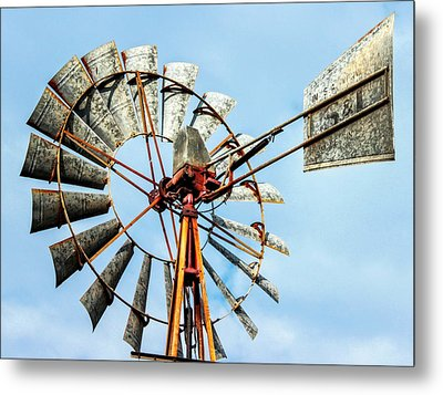 S And L Windmill Metal Print