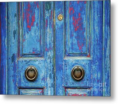 Rustic Blue Doors Metal Print by Tim Gainey