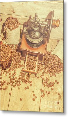 Rustic Country Coffee House Still Metal Print