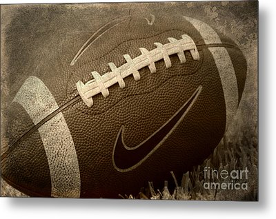 Rustic Football Metal Print
