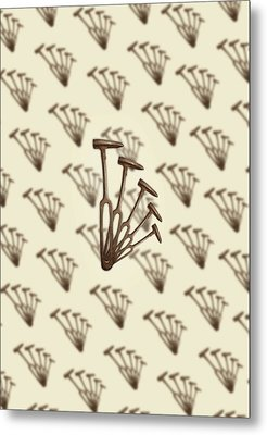 Metal Print featuring the photograph Rustic Hammer Pattern by YoPedro