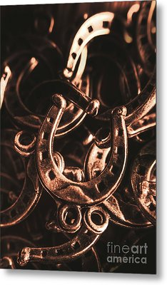 Rustic Horse Shoes Metal Print by Jorgo Photography - Wall Art Gallery