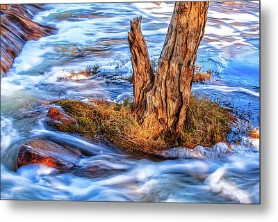 Rustic Island, Noble Falls Metal Print by Dave Catley