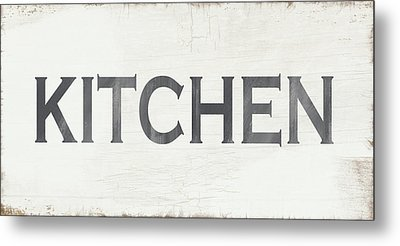 Rustic Kitchen Sign- Art By Linda Woods Metal Print
