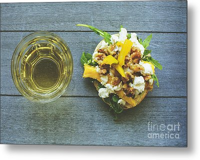 Rustic Lunch With Goat Cheese Metal Print by Patricia Hofmeester