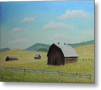 Rustic Montana Barn Metal Print by Jayne Wilson