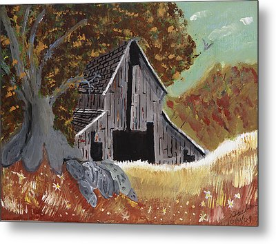 Rustic Old Barn Metal Print
