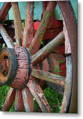 Metal Print featuring the photograph Rustic Spoke by Robert Smith