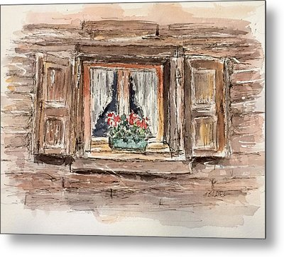 Rustic Window Metal Print by Stephanie Sodel